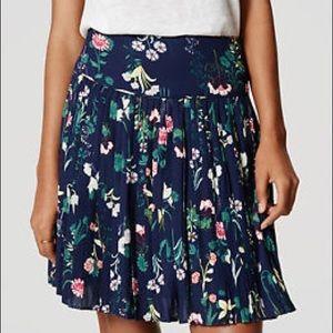 Ann Taylor LOFT Valley Floral Printed Skirt